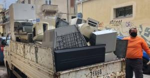 Συγκέντρωσαν απόβλητα ηλεκτρικού και ηλεκτρονικού εξοπλισμού