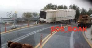 Τροχαίο στον ΒΟΑΚ: Ντελαπάρισε φορτηγό στον ΒΟΑΚ