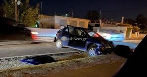 Χανιά: Τροχαίο ατύχημα στη Σουδα αυτοκίνητο έγινε σμπαραλια (φωτο)