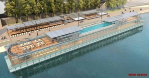 Μια πισίνα πλέει πάνω από τον Σηκουάνα -Το Παρίσι ετοιμάζεται για την μετά Covid-19 εποχή