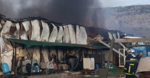Ολοσχερής καταστροφή στο εργοστάσιο της ΥΦΑΝΤΗΣ (φωτο)