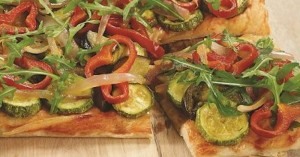 Πίτσα ψητών λαχανικών