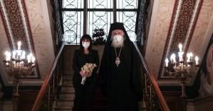 Η Σακελλαροπούλου πήγε στον Ιερώνυμο - Τι είπαν για το εμβόλιο και τις σχέσεις Εκκλησίας