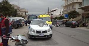 Τροχαίο ατύχημα με τραυματισμό στα Χανιά (φωτο)