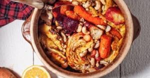 Χειμωνιάτικα λαχανικά στη γάστρα με κύμινο και πορτοκάλι