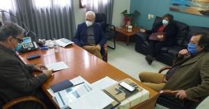 Συνάντηση Ζερβού - Θραψανιώτη στο Δημαρχείο Αγίου Νικολάου
