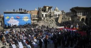 Ο πάπας Φραγκίσκος στην κατεστραμμένη από τους τζιχαντιστές Μοσούλη