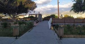 Ο Δήμαρχος Ηρακλείου Βασίλης Λαμπρινός στην στοχευμένη δράση καθαριότητας στο Δειλινό