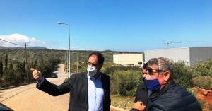 Επίσκεψη Γιάννη Κεφαλογιάννη στις εγκαταστάσεις του Βιοτεχνικού Πάρκου Ρεθύμνου