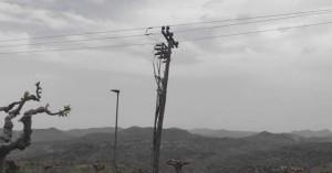 Έσπασε μεγάλη κολώνα ρεύματος στ' Ανώγεια (φωτο)