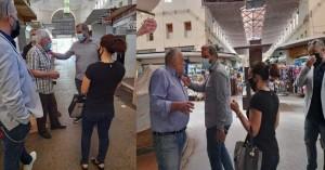 Στη δημοτική αγορά Χανίων μετά την πρωινή φωτιά ο πρόεδρος του ΕΒΕΧ