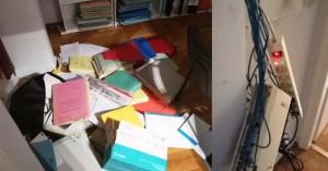 Επίθεση του Ρουβίκωνα στο γραφείο δικηγόρου του οίκου ευγηρίας των Χανίων (φωτο)