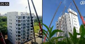 Κινέζοι ανέγειραν 10όροφη πολυκατοικία σε 29 ώρες, με πλήρως επιπλωμένα διαμερίσματα