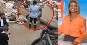 Φακός «τσάκωσε» ρεπόρτερ να πασαλείβεται με λάσπη για να δείξει ότι βοήθησε πλημμυροπαθείς