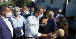 Την κινητή μονάδα εμβολιασμών στο Σπήλι επισκέφθηκε ο Κυρ. Μητσοτάκης