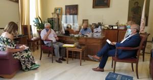Συνάντηση Δημάρχου Ηρακλείου Βασίλη Λαμπρινού για το Σχολείο Ευρωπαϊκής Παιδείας