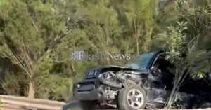 Τροχαίο ατύχημα στον ΒΟΑΚ - Αυτοκίνητο