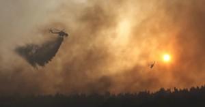Σε ύφεση η φωτιά στη Βαρυμπόμπη – Ένα ενεργό μέτωπο