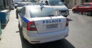 Τροχαίο ατύχημα με τραυματισμό οδηγού μοτο στο Βαμβακόπουλο στα Χανιά (φωτο)