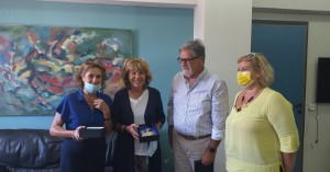 Η οργανωτική επιτροπή του 21ου Πανελληνίου Συνεδρίου ΠΑΡΗΣΥΑ στον Δήμαρχο Αγ. Νικολάου
