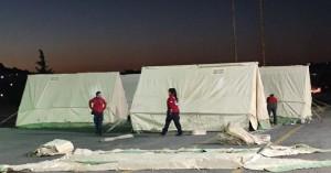 Κρήτη: Στήθηκαν οι σκηνές που θα καταλύσουν προσωρινά οι πληγέντες του σεισμού (φωτο)