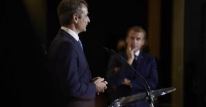 -LIVE- Κυριάκος Μητσοτάκης και Εμανουέλ Μακρόν ανακοινώνουν την αμυντική συμφωνία