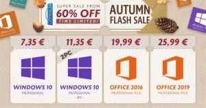 Φθινοπωρινές Προσφορές στο GoDeal24: Windows 10 στα 7.35€, Office από 19.99€