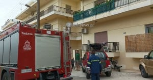 Πήρε φωτιά πολυκατοικία στην περιοχή της Χαλέπας
