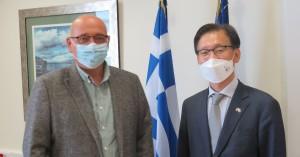 Συνάντηση του Πρύτανη του Πανεπιστημίου Κρήτης με τον Πρέσβη της Δημοκρατίας της Κορέας