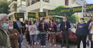 Μεγάλη συγκέντρωση διαμαρτυρίας για τις συγχωνεύσεις σχολείων στα Χανιά