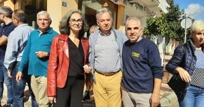 Σοφία Σακοράφα και Γιώργος Λογιάδης στους σεισμόπληκτους στο Αρκαλοχώρι