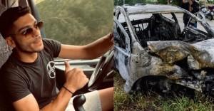 Νεκρός 26χρονος - Απανθρακώθηκε μετά από τροχαίο (βίντεο)