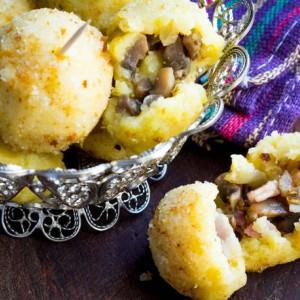 Σπιτικές κροκέτες πατάτας με μανιτάρια