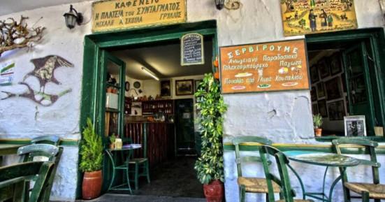 Ένα παραδοσιακό καφενείο στ' Ανώγεια αυθεντική εμπειρία ζωής