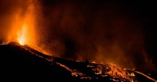 Ηφαίστειο Λα Πάλμα: Δορυφορική απεικόνιση από τη ροή της λάβας