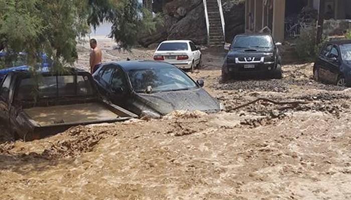 Ποτάμι λάσπης στα νότια του νομού Ηρακλείου απο την σφοδρή βροχόπτωση