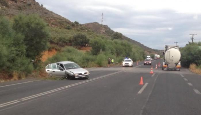 Αυτοκίνητο με 4 επιβάτες, εξετράπη της πορείας του στον ΒΟΑΚ (φωτο)