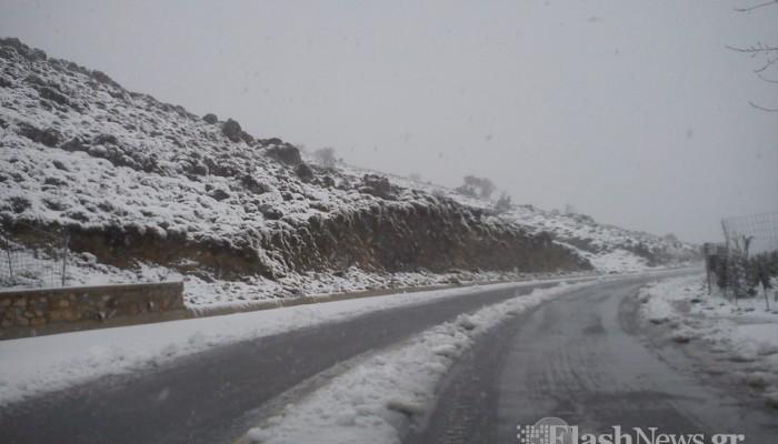 Χιονοπτώσεις στις ορεινές περιοχές της Κρήτης (φωτό - βίντεο)