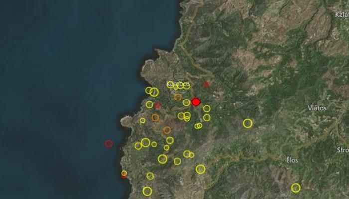 Χερσαίος σεισμός στα Χανιά έγινε ιδιαιτέρως αισθητός