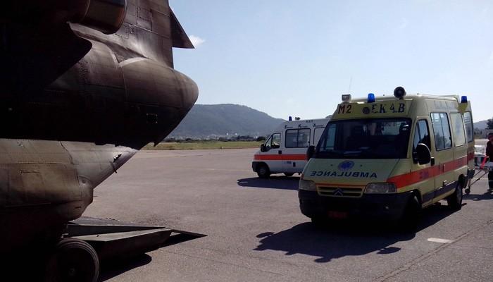 Αεροδιακομιδή στήθηκε για ένα παιδί και έναν 24χρονο από Ηράκλειο σε Αθήνα