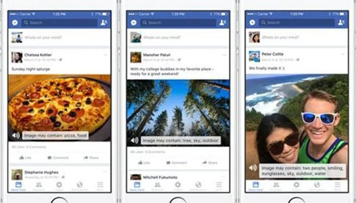 Ηχητική περιγραφή φωτογραφιών για εκατομμύρια τυφλούς στο Facebook
