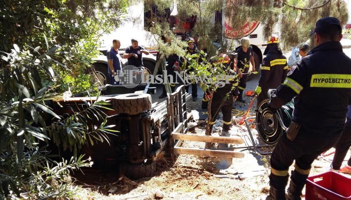 Νεκρός νεαρός εργάτης μετα απο δυστύχημα στο ΒΙΟΠΑ Χανίων (φωτο)