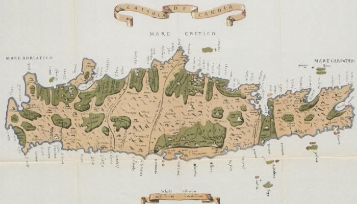 Δεκαεφτά ιστορικοί χάρτες της Κρήτης