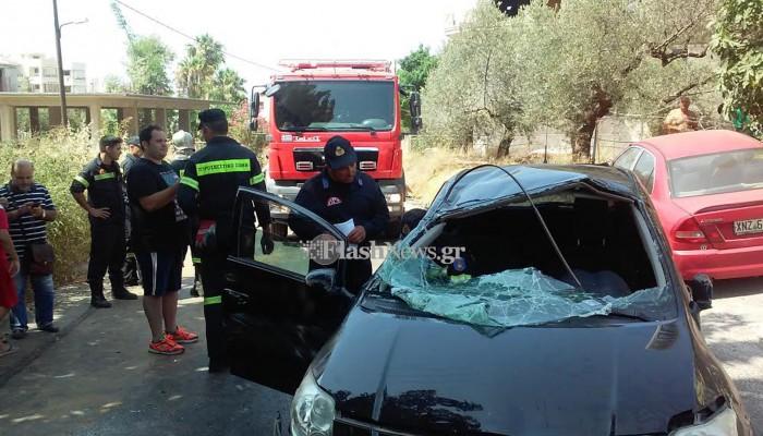 Ανατροπή αυτοκινήτου στις Μουρνιές με έναν τραυματία (φωτο)