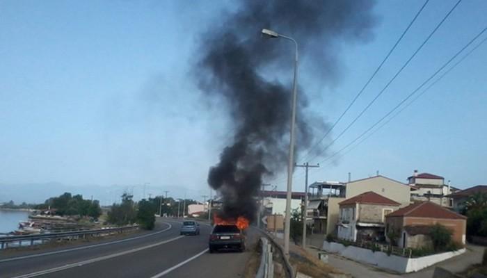 Πυρκαγιά σε αυτοκίνητο που ήταν εν κινήσει στον ΒΟΑ Κρήτης
