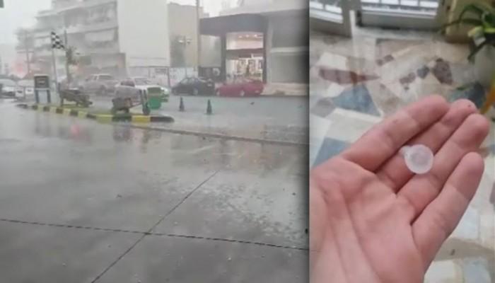 Χαλασμός! Χαλάζι σε Ηράκλειο και Ανώγεια - Ανεμοστρόβιλος στη Χερσόνησο