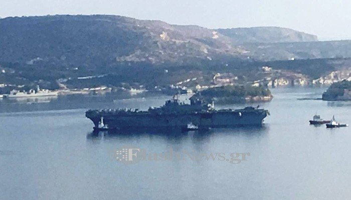 Κατάπλευσε στην Σούδα το USS Wasp με 2.500 άτομα (φωτο)