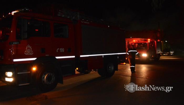 Φωτιά τα ξημερώματα σε συνεργείο αυτοκινήτων στο Ρέθυμνο