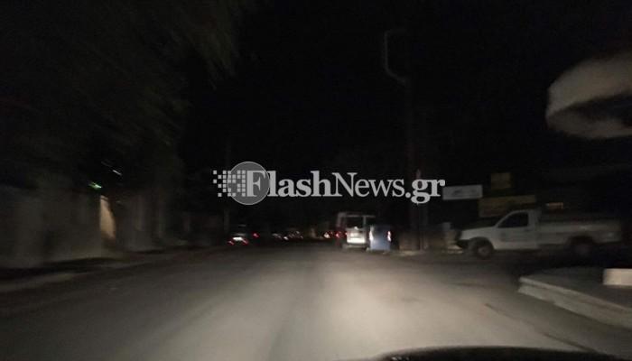 Στο σκοτάδι κεντρικοί δρόμοι των Χανίων λόγω κακοκαιρίας (φωτο-βιντεο)