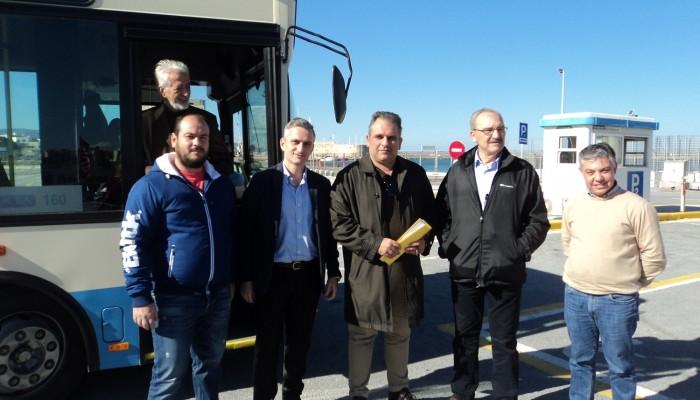 Διαδρομές για mini bus εντός των τειχών δοκιμάστηκαν σήμερα στο Ηράκλειο